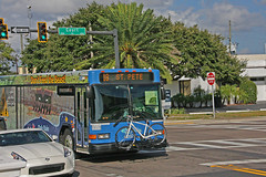 BUS passing thru Court Street Intersection, Clearwater, Florida (1 of 3)