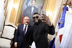 David Ortiz visita a Danilo Medina con motivo de Navidad y Año Nuevo, época propicia para renovar lazos de amistad, cariño y respeto