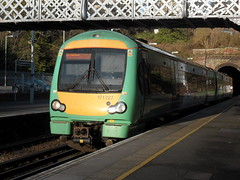 Southern DMU 171727 at St Leonards Warrior Square station