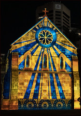 St Stephens projected lighting on to church-10=