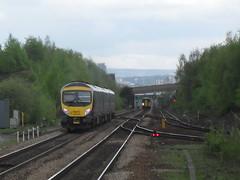 First TransPennine Express DMU 185103 and Northern Rail DMU 153304 near Meadowhall Interchange