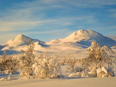 Happy new year! Gausta mountains. Norway.