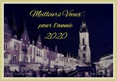 Tournai le beffroi et la Grand Place en Décembre 2019