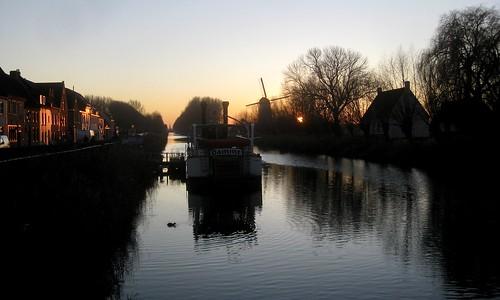 Zicht richting Brugge vanuit Damme