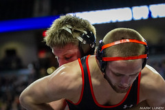 141# 1st: No. 8 Max Murin (Iowa) dec. No. 7 Josh Heil (Campbell), 5-3