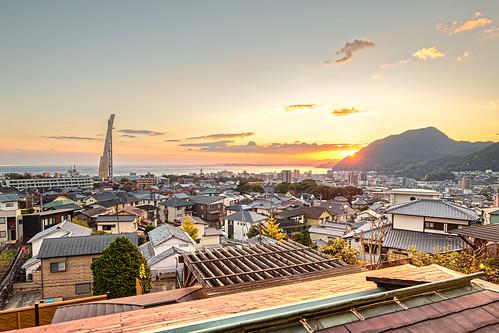 Sunrise at Beppu, Oita, Japan