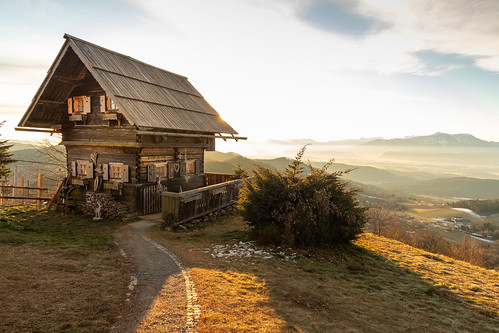 Cute mountain hut on Magdalensberg, Austria