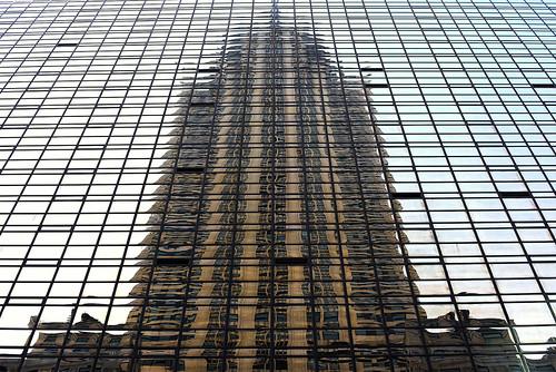 Chrysler building reflection, New York, USA