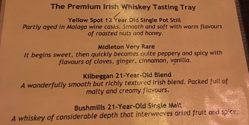 The whiskeys we tried.