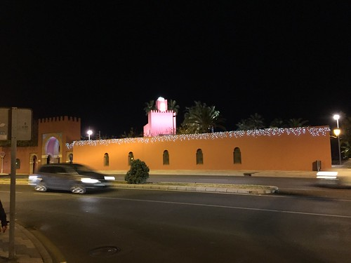 Mosque with Christmas lights