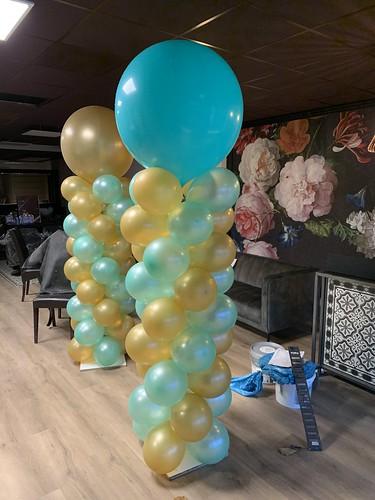 Ballonpilaar Breed Rond Ami Kappers Schiedam