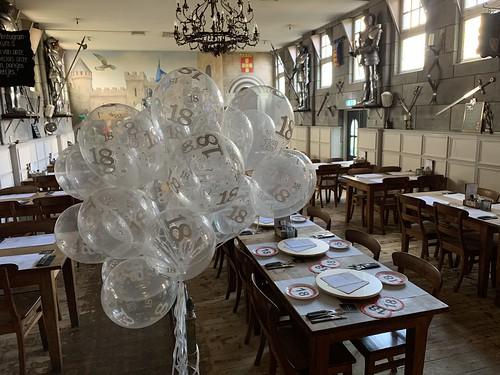 Heliumballonnen Transprant Cijfer 18 Wapen van Poortugaal