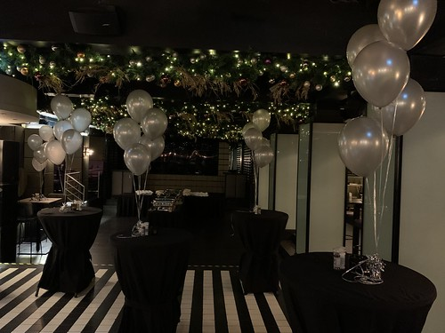 Tafeldecoratie 5ballonnen Hotel t Goude Hooft Den Haag