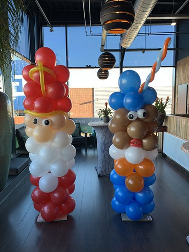 Ballonpilaar Breed Sinterklaas Zwarte Piet Watertuin Spijkenisse