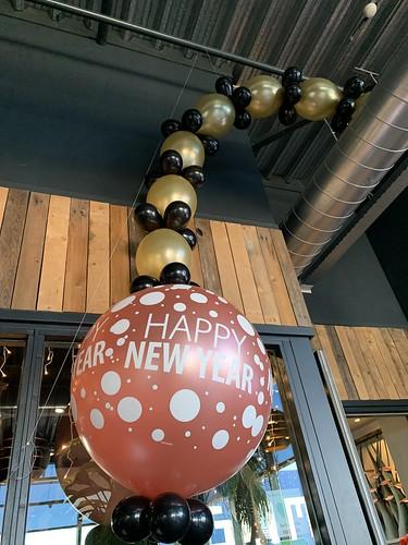 Ballonslinger Happy New Year Oud en Nieuw Watertuin Spijkenisse