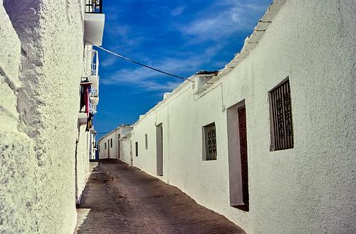 Capileira street, Las Alpujarras, Spain