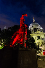 Statue at St Pauls