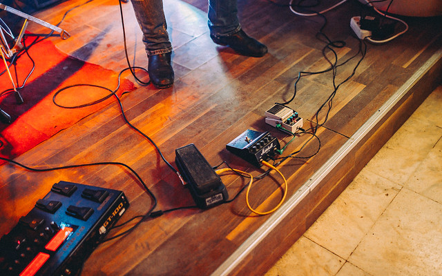 Photo:Guitar pedals on stage By shixart1985