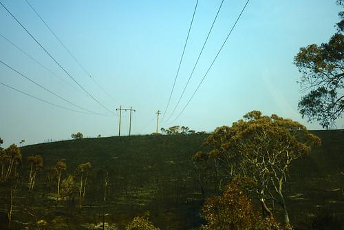 Blackened hill