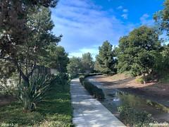 Jogging on North Carlsbad trail