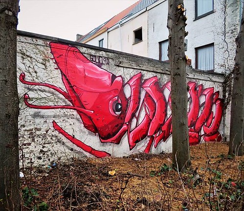 #Ghent update on #StreetArtCities : the EME #shrimp by #Solid is now on the map. . #gent #streetart #graffiti #urbanart #graffitiart #streetartbelgium #graffitibelgium #visitgent #muralart #streetartlovers #graffitiart_daily #streetarteverywhere #ilovestr