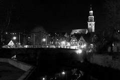 Lauf an der Pegnitz: bridge and Johanniskirche