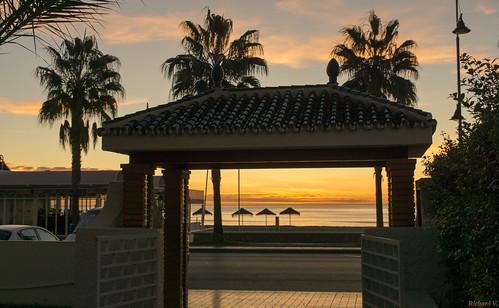 Sunrise, Lever du soleil, Espagne, Costa Del Sol, Torremolinos - 3306