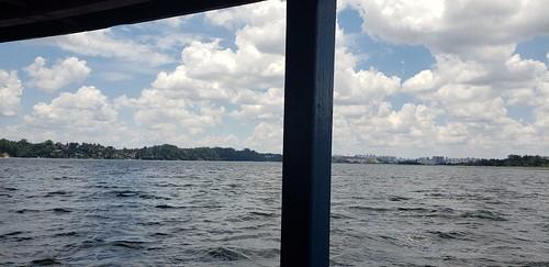 A travessia no barco