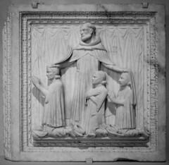 Giovanni di Balduccio, Saint Peter Martyr and Three Donors, Marble, ca. 1340 2/14/19 #metcloisters #artmuseum #medievalart