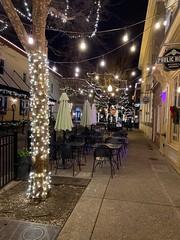 Manassas, Virginia holiday lights.