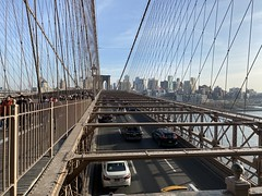 Cars over Brooklyn Bridge