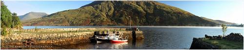 Boats on Killary fjord at Leenane, Connemara