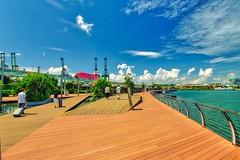 Walking Bridge between Singapore and Sentosa Island