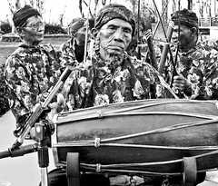Musicians from a traditional Javanese band, Indonesia
