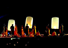 Vesak lantern ceremony in Borobudur temple in Java, Indonesia