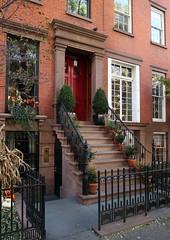 Open gate:  136 West 13th Street (1880), Greenwich Village, New York