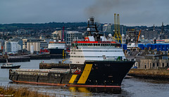Caledonian Vision Departing Aberdeen Harbour 04/01/2020