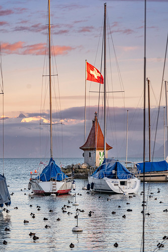 Morges ancient habour