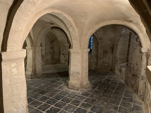 Église Sainte-Adèle-et-Saint-Martin d'Orp-le-Grand Catholic Church, The Crypt.