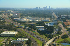 Tampa Skyline with I-275 Aerial