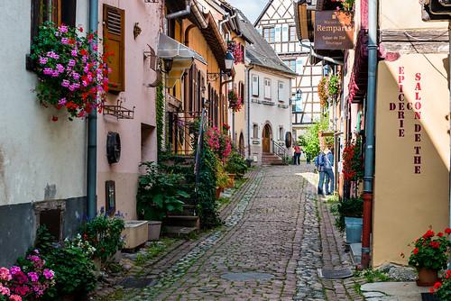 Streetscene in Eguisheim