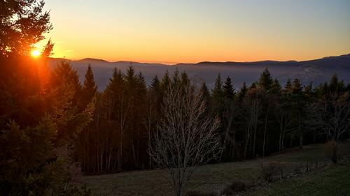 The beautiful New Year sunrise