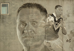 Rugby Player Mural