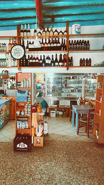 Traditional deli store in Donoussa