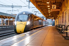 5th January 2020: First electric passenger train at Cardiff Central