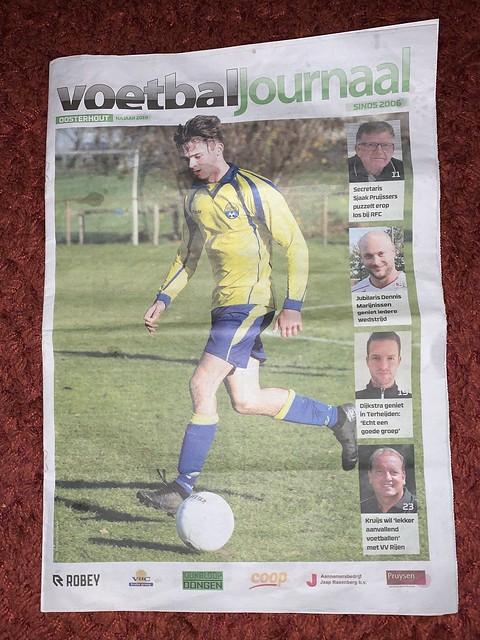 2019 - Voetbaljournaal najaar 2019 - voorpagina editie Oosterhout