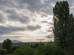 Coucher de soleil sur le piémont des Vosges