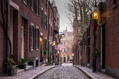 Acorn Street, Beacon Hill, Boston