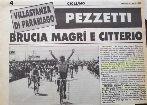 Pezzetti brucia Magrì e Citterio nel GP Rancilio a Parabiago (1987)
