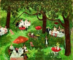 Les Petites Tables, Grande Cour [Petit déjeuner à Honfleur] (undated) - Francis Smith (1881-1961)